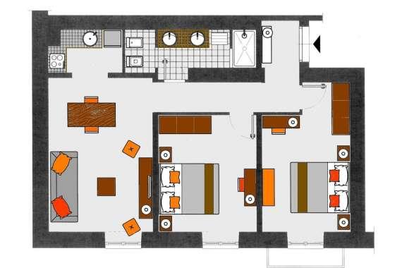 Appartamento Marrone